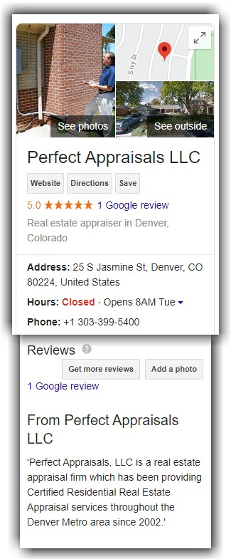 Denver Property Appraiser Reviews